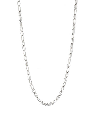 Anne Klein Gold-Tone Open Link Long Necklace