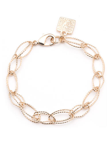 Anne Klein Gold-Tone Open Link Stretch Bracelet