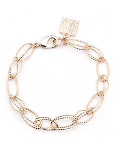 Anne Klein Gold-Tone Open Link Stretch Bracelet