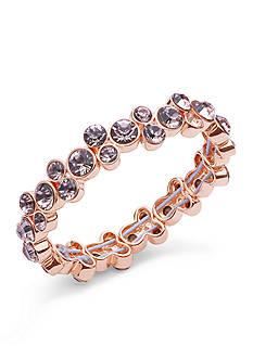 Anne Klein Rose Gold Tone Stretch Bracelet