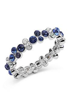 Anne Klein Silver Tone Blue Stretch Bracelet