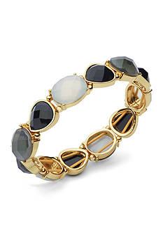 Anne Klein Gold Tone Jet Stretch Bracelet