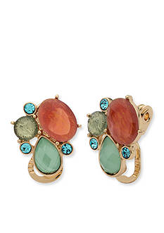 Anne Klein Gold-Tone Cluster Clip Earrings