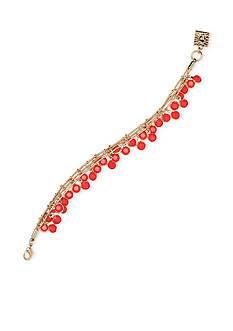 Anne Klein Gold Tone 3 Row Coral Shaky Bracelet