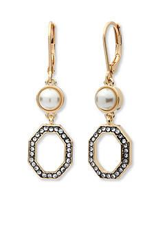 Anne Klein Gold-Tone Pearl Drop Earrings