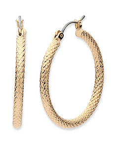 Anne Klein Gold-Tone Hoop Earrings