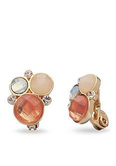Anne Klein Cluster Clip Earrings
