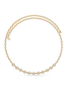 Anne Klein Gold-Tone and Pearl Coil Collar Necklace