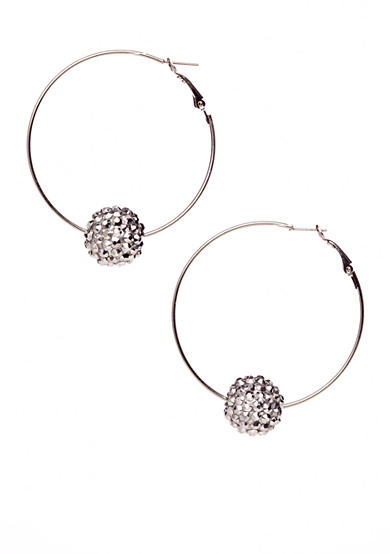 Red Camel® Hoop with Silver Pave Ball