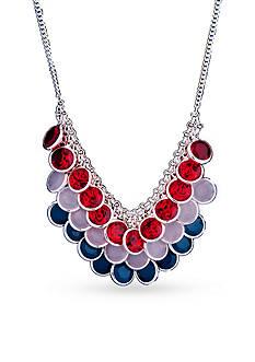Kim Rogers Silver-Tone Americana Collar Necklace