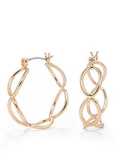 Kim Rogers Gold-Tone Sensitive Skin Oval Hoop Earrings