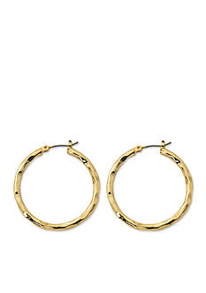Kim Rogers® Gold-Tone Sensitive Skin Blair Hoop Earrings