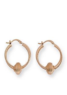 Kim Rogers Gold-Tone Diamond Cut Double Hoop Earrings