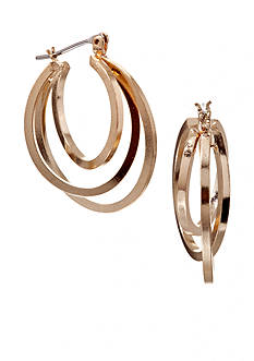 Kim Rogers Gold Plated Multi Oval Hoop Earrings