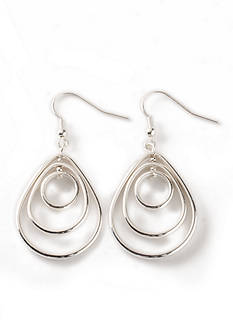 Kim Rogers® Silver-Tone Teardrop Earrings