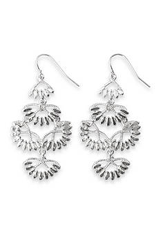 Kim Rogers® Silver-Tone Triple  Drop Chandelier Earrings