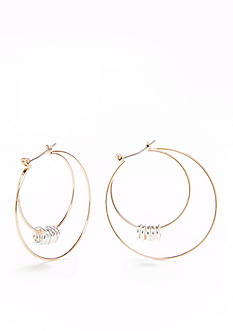 Kim Rogers® Two-Tone Double Hoop Earrings
