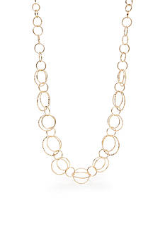 Kim Rogers Gold-Tone Plated Fashion Necklace