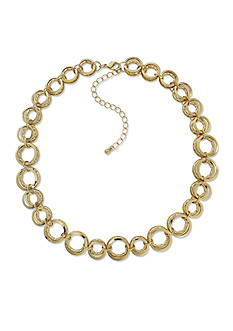 Kim Rogers® Gold-Tone Layered Open Link Chain Necklace