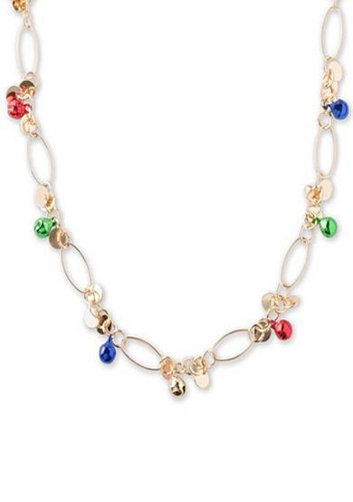 Kim Rogers® Gold-Tone Jingle Bell Cluster Chain Necklace