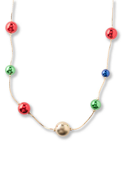 Kim Rogers® Gold-Tone Multi Colored Ball Station Long Necklace