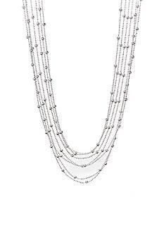 Kim Rogers Multi Strand Silver Tone Fashion Necklace