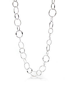 Kim Rogers® Silver-Plated Triple Oval Link Necklace