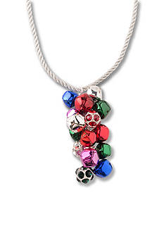 Kim Rogers® Silver-Tone Jingle Bell Cluster Pendant Necklace