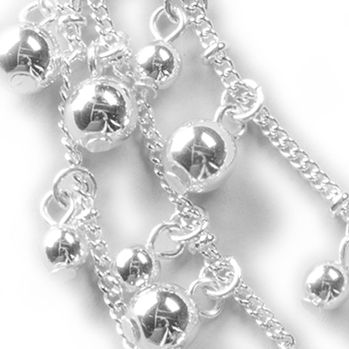 Fashion Strand Necklaces: Silver Kim Rogers Sweet Belle Multistrand Collar Necklace