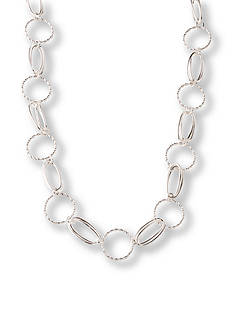 Kim Rogers® Silver-Tone Twisted Chain Necklace