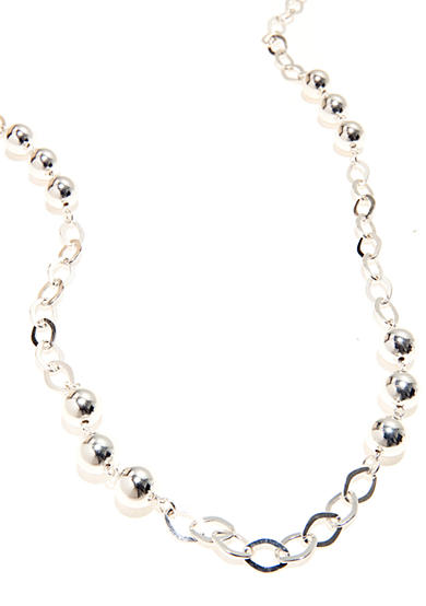 Kim Rogers® 36-in. Open Link Silver Plated Necklace with 10-mm. Beads