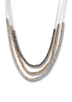 Kim Rogers Tri-Tone Beaded Multi-strand Necklace