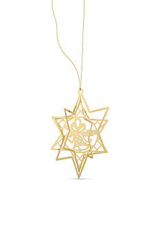 Kim Rogers Gold-Tone Starburst Bell Boxed Ornament