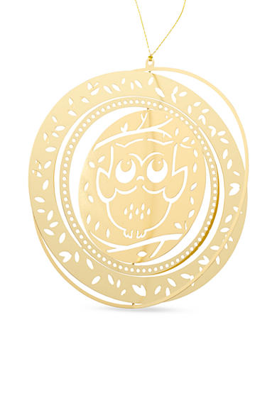 Kim Rogers® Gold-Tone Owl Boxed Ornament