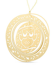 Kim Rogers Gold-Tone Owl Boxed Ornament