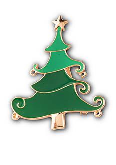 Kim Rogers Gold-Tone DIY Christmas Tree Pin
