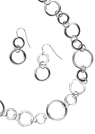 Kim Rogers® Sensitive Skin Circles Necklace and Earrings Set