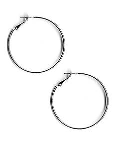 Kim Rogers® Silver-Tone Sensitive Skin Large Hoop Earrings