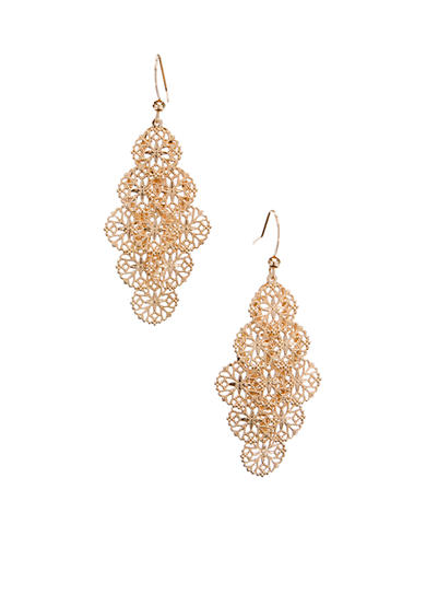Kim Rogers® Filigree Drop Cluster Earrings