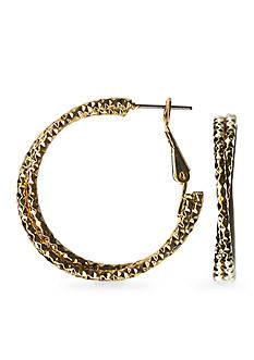 Kim Rogers® Gold-Tone Sensitive Skin Twist Hoop Earrings