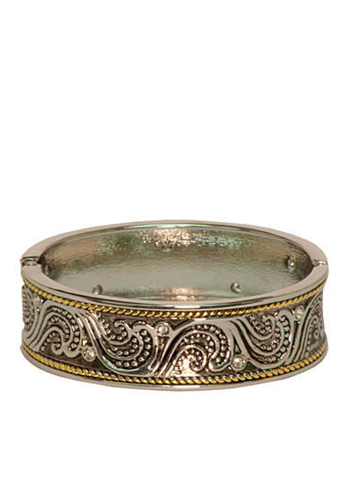 Kim Rogers® Boxed Two Tone Scroll Design Bangle