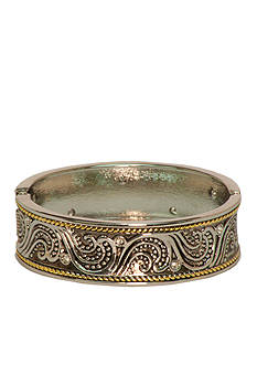Kim Rogers Boxed Two Tone Scroll Design Bangle