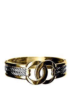 Kim Rogers® Boxed Two-tone Double Circles Bangle