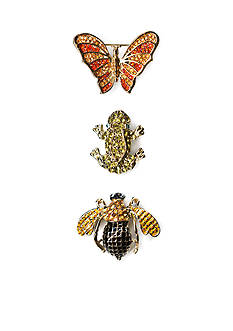Kim Rogers Gold-tone Boxed Trio Bee Pins