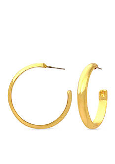 Kim Rogers Gold-Tone Sensitive Skin Hoop Earrings