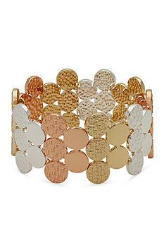 Kim Rogers Tri-Tone Stretch Bracelet