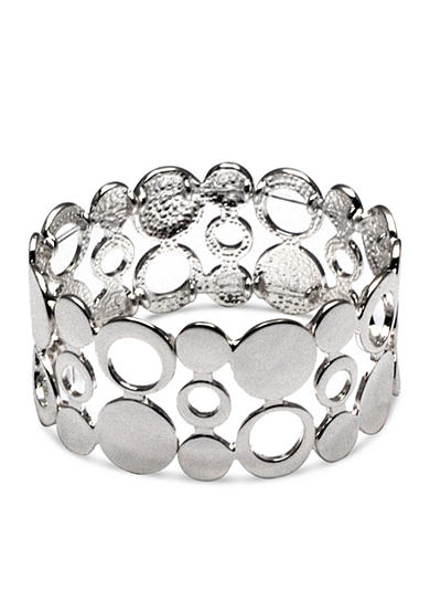 Kim Rogers® Silver-Tone Sensitive Skin Circle Circus Stretch Bracelet