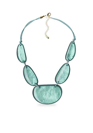 Kim Rogers® Uneven Oval Statement Necklace