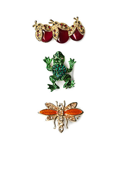 Kim Rogers® Gold-Tone Trio Bug Boxed Pins