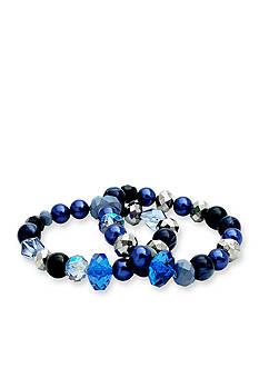 Kim Rogers Silver-Tone Starry Night Bracelet Set